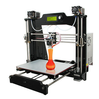 GEEETECH Mixer Prusa I3 3D Printer 2-in-1 out switchable hotend Adjustable Color