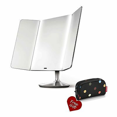 ST3008 Simplehuman wide-view sensor makeup mirror + FREE Reisenthel cosmetic bag