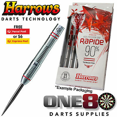 Harrows NEW 2017 Rapide Darts, 22g, 24g or 26g, Steel Tip, 90% Tungsten