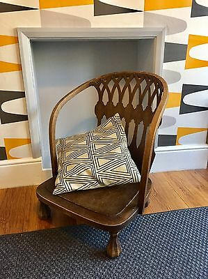 Vintage High Back Occasional Wingback Chair Antique Style