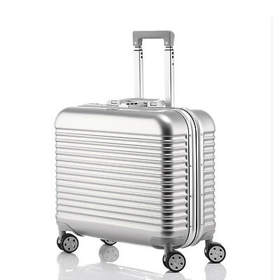 "17"" Lightweight Aluminum-Magnesium Alloy Universal Wheel Travel Luggage Suitcase"