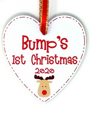 BUMPS 1ST CHRISTMAS Bauble Baby's First Xmas Tree Decoration Gift