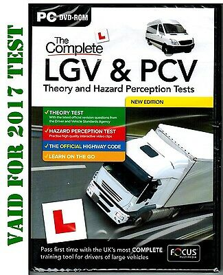 Latest The 2016/17 LGV & PCV Theory & Hazard Perception Test PC DVD-ROM *FCPC