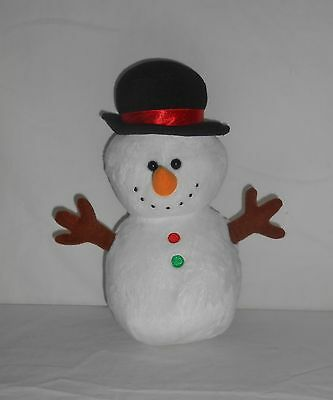 "2011 TY 10"" Plush Pluffies Snowman ""Twigs"""