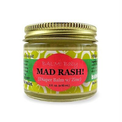 BALM! Baby MAD Rash * Natural Diaper Rash Balm & ALL Purpose Skin Aid * with ...