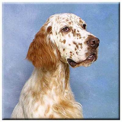 "English Setter 4"" Decorative, Cork Backed, Ceramic Tile"