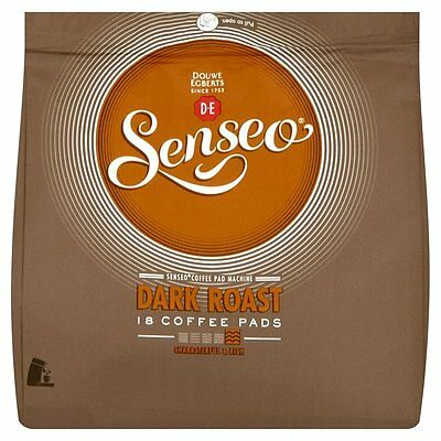 Douwe Egberts Senseo Dark / Strong Roast Coffee Pods (Pack of 6, Total 108 pods)