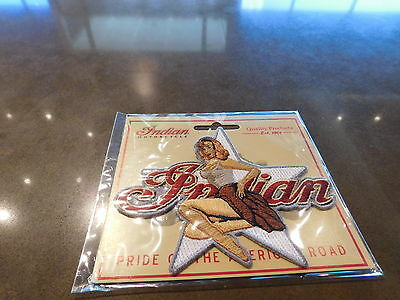 """Indian Motorcycle / Kings Mountain Patch Bomber Girl Star Patch 4.5""""x3.5"""""""
