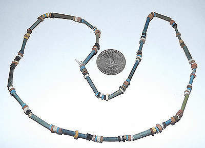 2500 Year old Ancient Egyptian Faience Mummy Bead NECKLACE (#D9525)