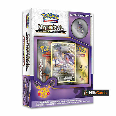 Pokemon Genesect Mythical Collection Box: Generations Booster Packs + Promo Card