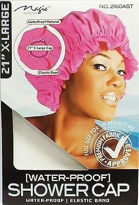 "Magic Collection X-Large Water-Proof Shower Cap With Elastic Band *XL 21""  #2160"
