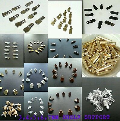 Shelf Supports Pegs PINS Plug Stud 3mm 4mm 5mm 6mm 7mm KITCHEN CUPBOARD CABINET