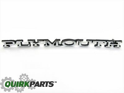 1970-1972 Plymouth Duster & 1968-1969 Plymouth Road Runner & GTX Hood Emblem OE