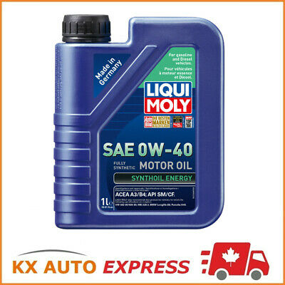 12 Liter Liqui Moly Synthoil Energy SAE 0W-40 Fully Synthetic Engine Oil