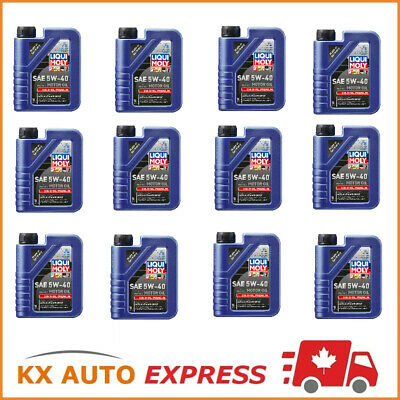 12L Liqui Moly Synthoil Premium SAE 5W-40 Fully Synthetic Engine Oil 1L Pack