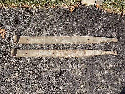 "Pair of Vintage Bean Strap Hinges  38"" x 2 7/8"""