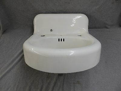 Antique Cast Iron White Porcelain Sink Bathroom Standard Vtg Plumbing 1880-16