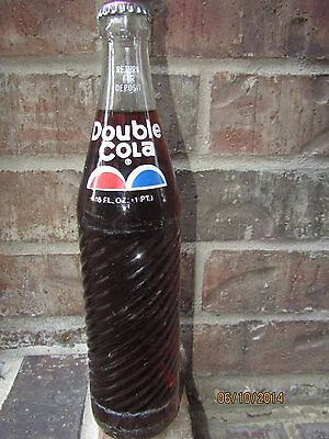 1980 16oz DOUBLE COLA Full Soda Bottle - HAGERSTOWN MARYLAND MD