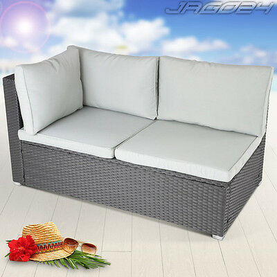 gartensofa gartenbank mit tisch polyrattan sitzbank gartenm bel schwarz b ware eur 42 50. Black Bedroom Furniture Sets. Home Design Ideas