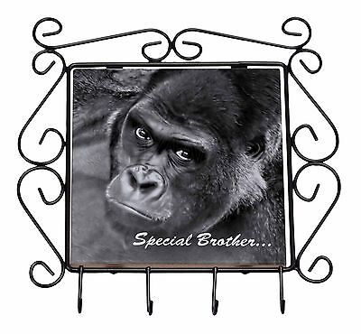 'Special Brother' Gorilla Wrought Iron Key Holder Hooks Christmas Gi, AM-6BRO1KH