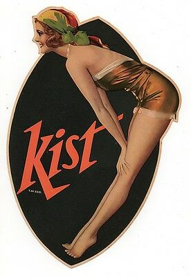 Kist Soda Paper Sign Pin Up Girl By Rolf Armstrong