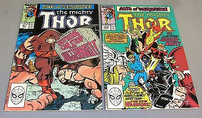 THOR #411 & 412 (New Warriors 1st appearance) Higher Grade Marvel Comics 1989