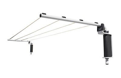 NEW VERSALINE SLIMLINE CLOTHESLINE 5m Folding Wall Mounted Indoor Outdoor Hoist