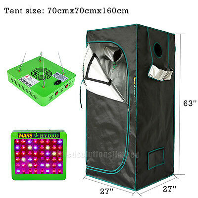 Reflector 48 LED Grow Light+27''×27''×63'' Indoor Grow Room for Plant Greenhouse