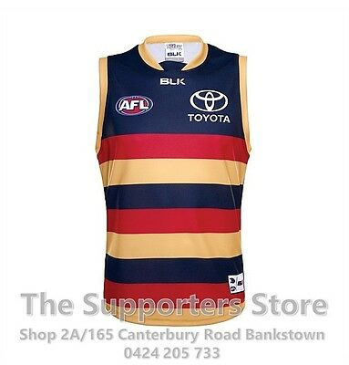 Adelaide Crows BLK 2016 AFL Home Guernsey/Jersey Size S-3XL! BNWT's