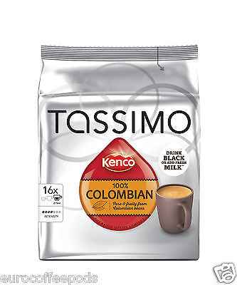 Tassimo Kenco Colombian Coffee 16 T-Discs / Servings