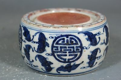 beautiful chinese blue and white porcelain inkstone