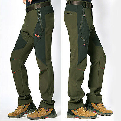 Men's Soft Shell WaterProof Pants Breathable Outdoor Sport Climbing Ski Pants