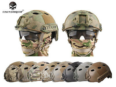 Emerson Tacitcal FAST Helmet PJ Type Airsoft Hunting Combat Helmet