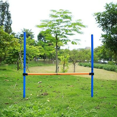 Pet Jump Dog Agility Training Equipment Show Obedience Tunnel Outdoor Flyball -