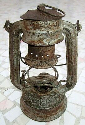 "Antique Made In Germany Feuerhand ""superbaby"" Rail Road Lantern, Excellent"