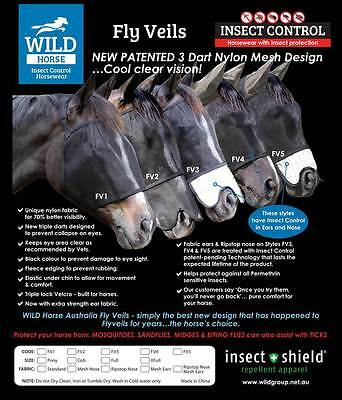 Wild Horse Fly Veil Range ON SALE NOW * LIMITED STOCK * BEST QUALITY *4 Styles