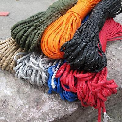 Outdoor Survival 100ft/31M 9 Strand Luminous Reflective Paracord Parachute Cord