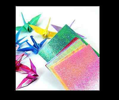 2PACKS of ORIGAMI 70GSM 15cm x 15cm 10 Color = 10 Sheets Pearl Shiny Craft Paper