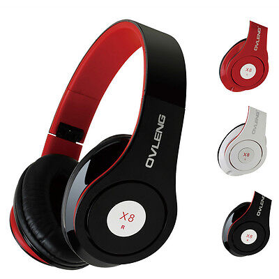 Sound Foldable Stereo Headphone Bass Over Ear Headset +Microphone For IPhone PC