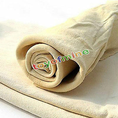 Natural Shammy Chamois Leather Car Cleaning Towels Drying Washing Cloth New