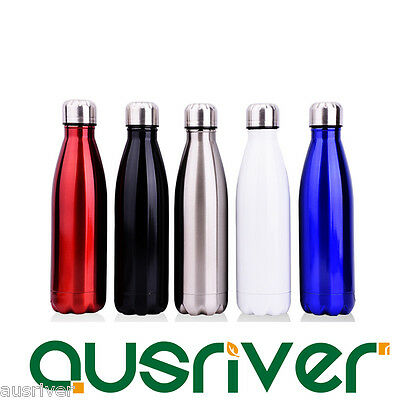 5Colours 500ml Double Layers Water Stainless Steel Beer Bottle Keg Vacuum Flask
