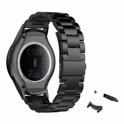 AU Stainless Steel Strap Watch Band Metal connector for Samsung Gear S2 SM-R720