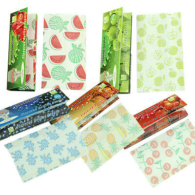 5 Fruit Flavored Smoking Cigarette Hemp Tobacco Rolling Papers 250 Leaves Set