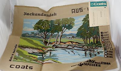 Coats Anchor Unworked Canvas/Pattern Tapestry Yackandandah River scene