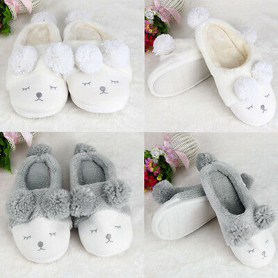 Womens Ladies Winter Slippers Winter Warm Comfort Furry Soft House Shoes Fashion