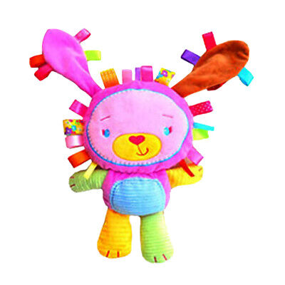 Toddler Rattle Bell Rabbit Plush Doll Teether Squeaky Toy Baby Cot Hanging