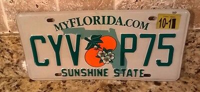 Florida 2011 Automobile Auto Car License Plate Tag Sunshine State Cyv P75