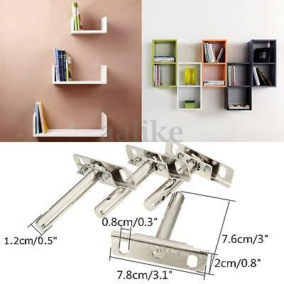 4pcs Stainless Steel Shelf Support Bracket Concealed Floating Hidden Install Set