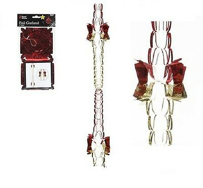 2 Pack Foil Christmas Hanging Ceiling Garland Chain 2.7metre