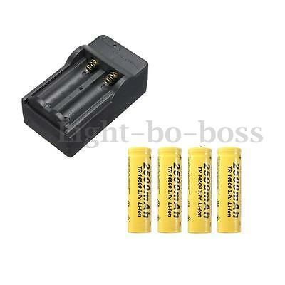 4Pcs 14500 3.7V 2500mAh Li-ion Rechargeable Batterie Pile Battery + Chargeur